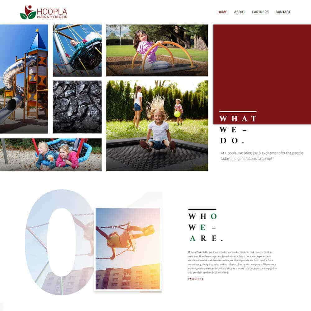 Singapore best web design hoopla web design