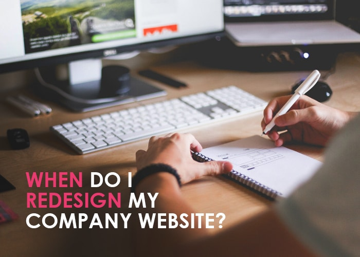 when do i redesign my company website