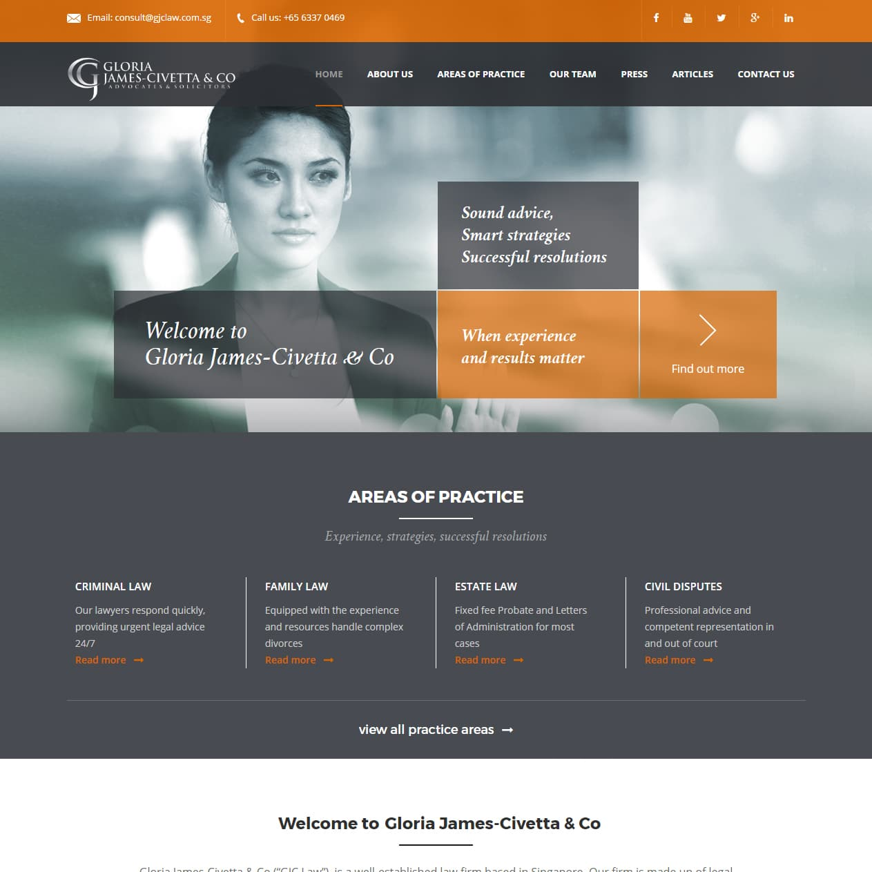 sbwd - Gloria James-Civetta & Co web concept