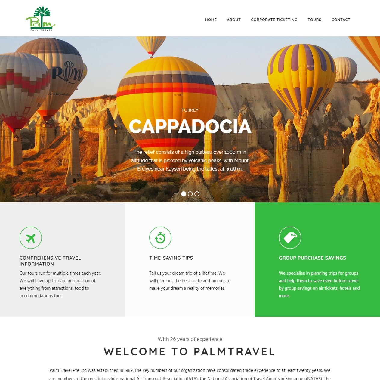 sbwd - palm travel web concept