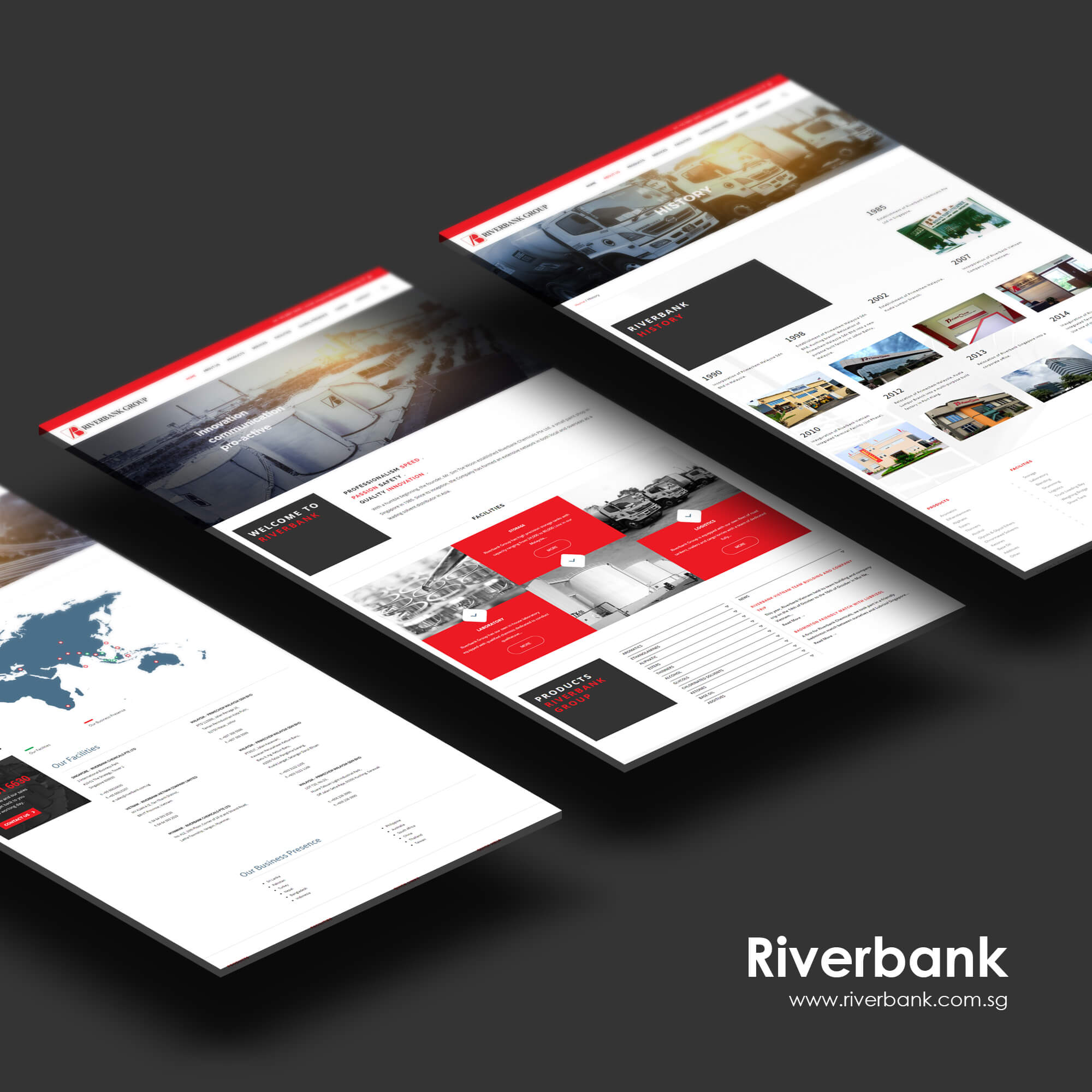 sbwd - riverbank web concept