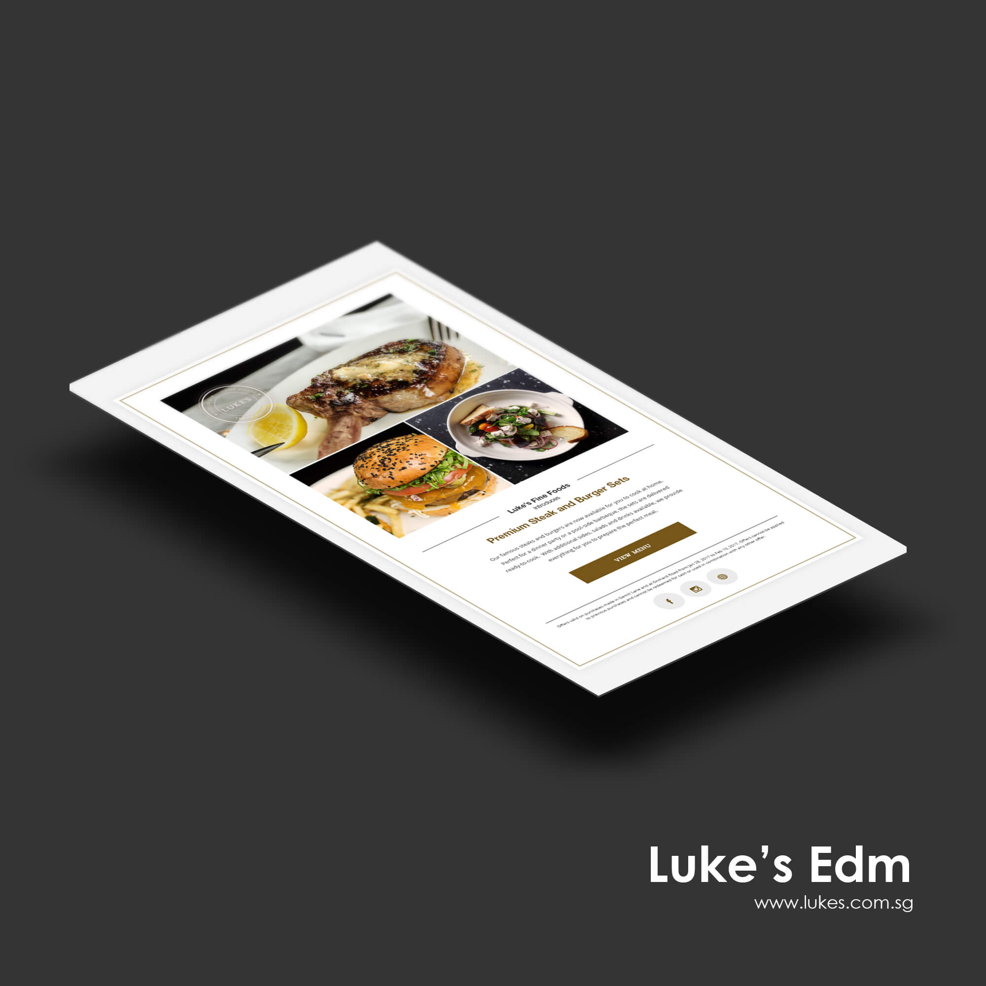 Singapore best web design luke's edm design