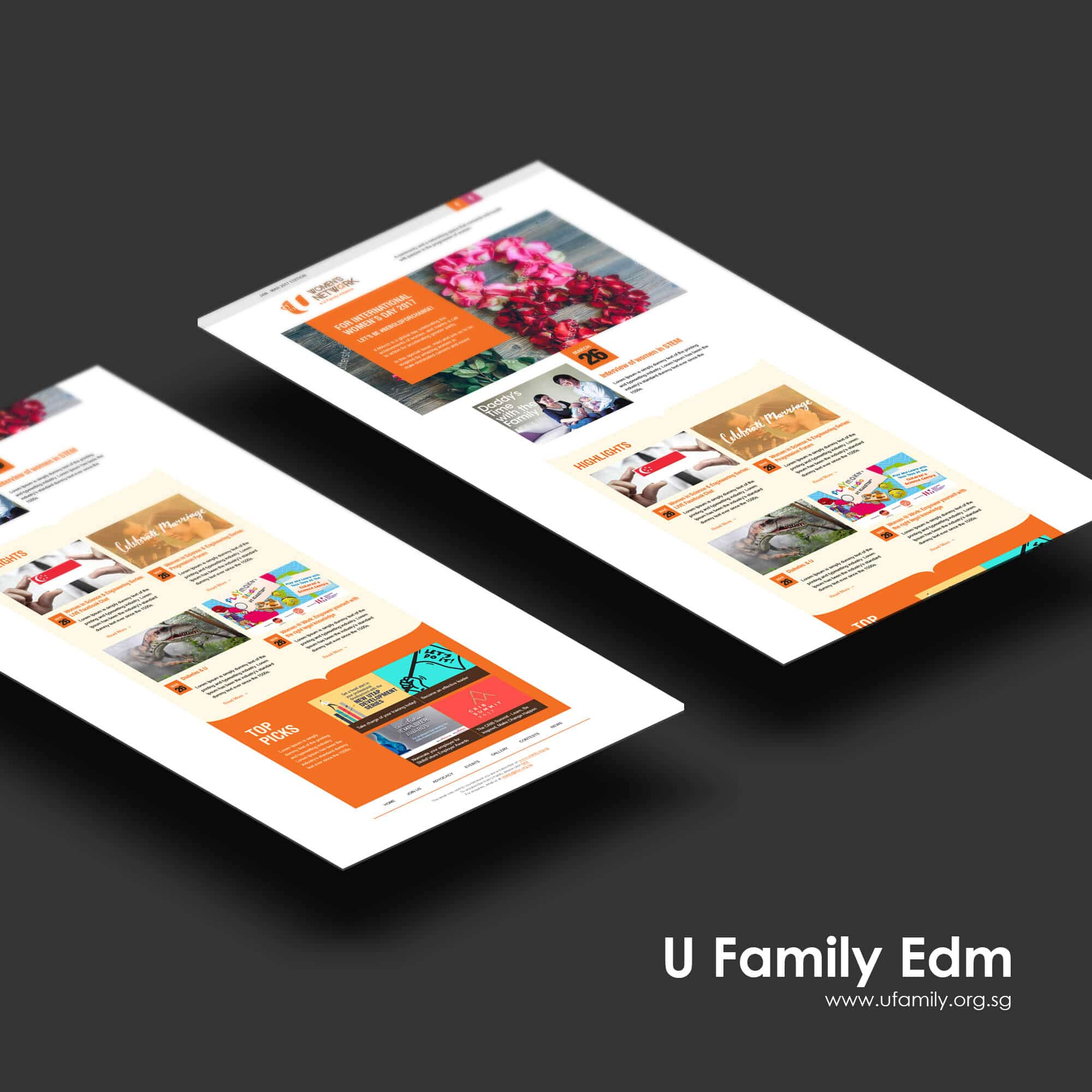 Singapore best web design u women's network edm design