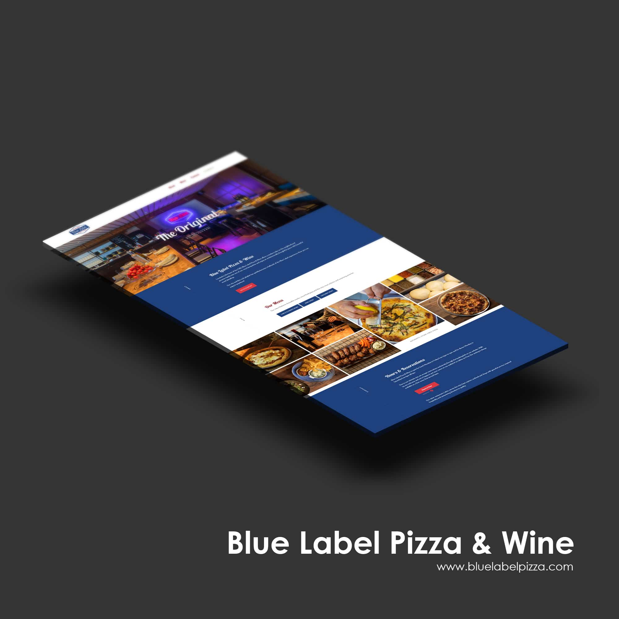 Singapore best web design blue label pizza & wine web design