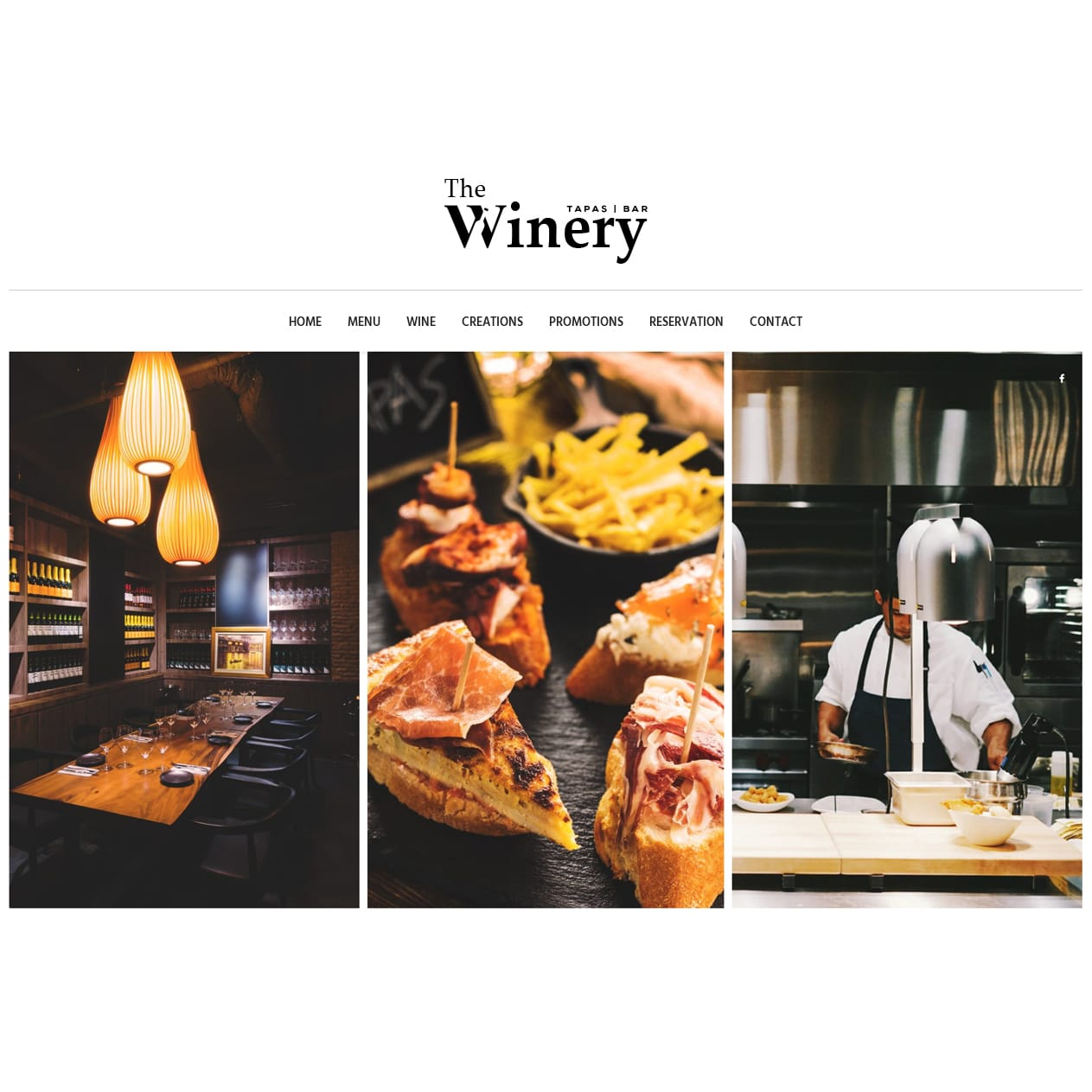 Singapore best web design the winery web design
